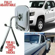 Universal Side Mirror For Trucks Full Size Low Mount Pickup Van Replacement