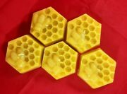 5x Pure Beeswax Tea Lights Candles Night Lights Candles With Bees Sets. Handmade