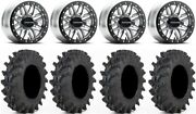 Raceline Ryno Bdlk 14 Mh Wheels 32x9.5 Outback Max Tires Rzr Turbo S / Rs1