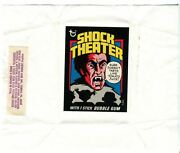 Shock Theater 1975 Topps Vintage Bubble Gum Trading Card Test Wrapper