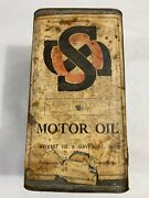 Antique Automobile Oil Can 1920s Fayetteville Syracuse New York Stewart Oil