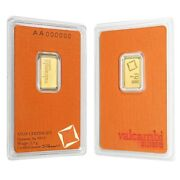 2.5 Gram Gold Bar Valcambi Suisse .9999 Fine In Assay