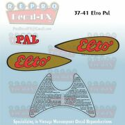 1937-1947 Elto Pal Decal Set Outboard Reproduction 4 Piece Vinyl Decal