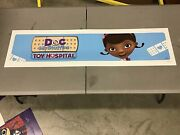 Doc Mcstuffins Toy Hospital Toys R Us Exclusive Store Display Sign 48x12