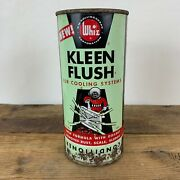 Hollingshead Whiz Kleen Flush Scuba Diver Can Gas Station Sign Gas Oil Scarce