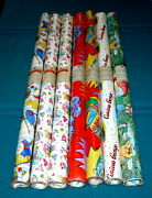 1980s Vintage American Greetings Wrapping Paper @ Lot Of 7 Rolls