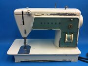 Vintage Used Singer Model 719 Cabinet Sewing Machine Parts White Old