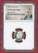 1995-s Silver 10c Dimeandnbsproosevelt Ngc Pf 70 Ultra Cameo -005