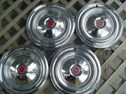 1955 55 1956 56 Packard Chipper 15 In. Hubcaps Wheel Covers Center Caps Vintage