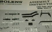 Bolens 19200-01 Lawn Garden Tractor Three Point Hitch Assembly Manual Original