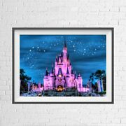 Disney Princess Magic Castle Poster Picture Print Sizes A5 To A0 New