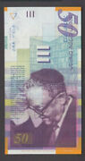 Israel Banknote P60 50 New Sheqalim 2007 Unc We Combine Low Shipping