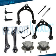 12pc Front Control Arms Wheel Hub Kit For 2012-2016 Challenger 300 Charger Rwd