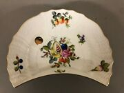 Herend Of Hungary 1530 Fruits And Flowers Salad Plate 1 1/4 X 8 1/4 X 5 1/4