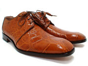 Mauri 53141/1 Brown 202 Alligator Body Dress Shoes Made In Italy Sz 9-11