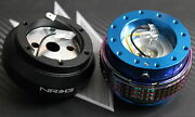 Nrg Steering Wheel Quick Release Hub 2.1 Blue-neo For Nissan 240sx 200sx 300zx
