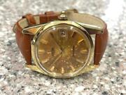 Classic Gold Capped 1961 Omega Ref 14701 Seamster Calendar Watch.