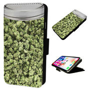 Mason Jar Weed Cannabis - Flip Phone Case Wallet Cover - Fits Iphones And Samsung