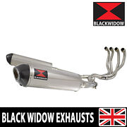 Zzr 1100 Zx-11 Zx11 4-2 Exhaust System Oval Stainless + Carbon Silencers 400st