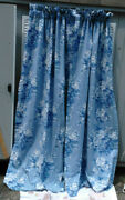 -grace-vintage Rod Pocket Drapes Shades Of Blue And White-100 Cotton