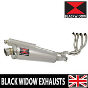 Kawasaki Zzr 1200 4-2 Full Exhaust System 400mm Round Stainless Silencer 400sr