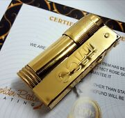 24ct Gold Plated Vintage Style Imco Triplex 6700 Lighter Petrol Wind Guard 24k