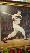 Ted Williams Autographed Canvas