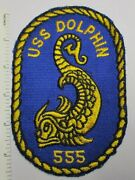 Uss Dolphin Agss-555 Us Navy Submarine Patch 1960s Vintage Original