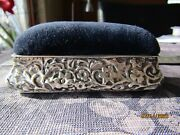 Fantastic High Quality Antique Silver Pin Cushion By H. Matthews 126 Years Old
