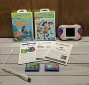 Leap Frog Leapster 2 Learning System Pink/purple Lot - Disney Pixar And More