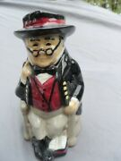 British Toby Jug Mr. Pickwick Of Roy Kirkham Pottery Staffordshire Hand Painted