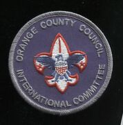 ⚜ Bsa Position Patch Occ International Committee - Mint - Orange County Council