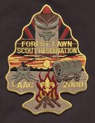 ⚜ Bsa Glaac Hesr Forest Lawn Scout Reservation Arrowhead Back Patch Hubert Eaton