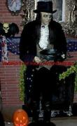 As-is 6 Foot Jeeves The Butler Animated Life Size Talking Halloween Prop