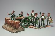Painted Tin Toy Soldier Foot Army Artillery 54mm 1/32