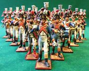 Painted Tin Toy Soldier Orchestra Of The Walking Grenadiers 54mm 1/32