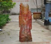 China Chinese Buddhism Crystal Hand-carved Longevity God Shouxing Old Man Statue