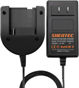Nimh Nicd Battery Charger For Porter Cable 18v Battery Pc18b Pcc489n Pcmvc Black