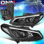 For 2015-2017 Sonata Pair Black Clear Signal Projector Headlight Lamps+tools