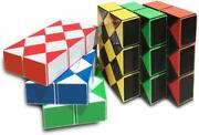 Yescube 6-piece Magic Snake Puzzle Twisty Snake Magic Puzzle Cube Toy Collection