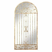Extra Large Antiqued Gold Arch Wall Mirror Architectural Gate