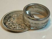 Canada Ring Silver 50 Cent Piece Canadian Coin Ring 1959 - 1966 Hand Made