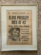 Elvis Presley Dead 1977 New York Daily News Whole Complete Newspaper