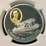 1994 Canada Silver 20 Gilt Aviation Vedette Ngc Pf 70 Ultra Cameo Perfection