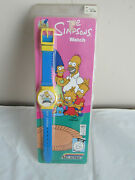 Authentic 1990 Nelsonic The Simpsons Blue Strap Watch