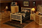 Rustic Log Bed - Small Spindles 299 Ships Free Hand Peeled Cedar