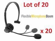 20x Cellet Universal 3.5mm Mono Headset + Boom Mic For Office Home Cell Phone