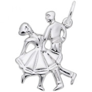 Dancing Couple Charm Sterling Silver Arts, Music And Entertainment Style 979 R