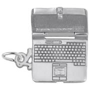 Laptop Computer Charm Sterling Silver Arts, Music And Entertainment Style 2600