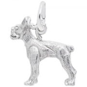 Boston Terrier Dog Charm Sterling Silver Animals And Pets Style 2879 Rembrandt